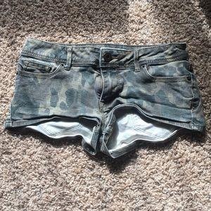 Camo short shorts